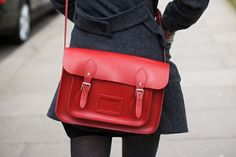 red cambridge satchel. I want one of these.