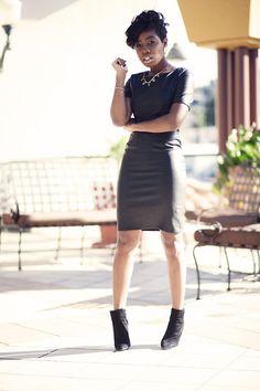 Lulus Leather Dress
