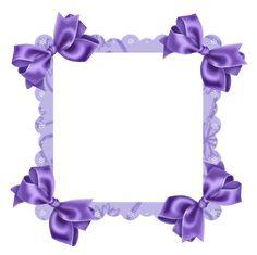 Transparent Frames | Purple Transparent Frame with Bow