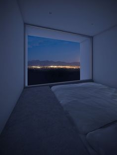 Such a quiet bedroom with a gorgeous view