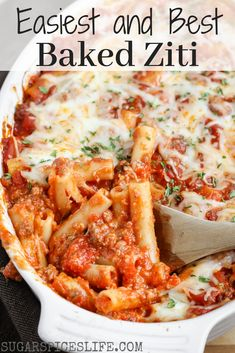 This baked ziti has a sweet delicious sauce filled with beef and topped with cheese. It doesn't take much time or effort to put it together. And it'll feed a crowd which is good since the taste will bring one! Best Baked Ziti Recipe, Baked Pasta Recipes, Beef Recipes, Cooking Recipes, Pasta Recipes Hamburger, Baked Cheese Ziti Recipe, Pizza Recipes, Pasta Recipes For A Crowd, Easy Italian Recipes