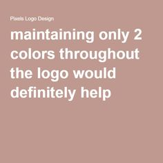 maintaining only 2 colors throughout the logo would definitely help #logodesign #branding