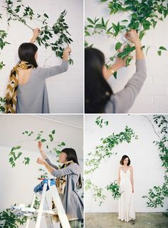 2015 Wedding Inspiration | wild flowers | simple wild vine back drop