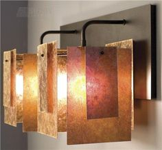 Spider Mica Sconce: great colors--wonder how/if one could get this color effect with Bullseye glass