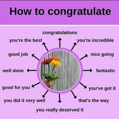 A few different ways of congratulating someone.