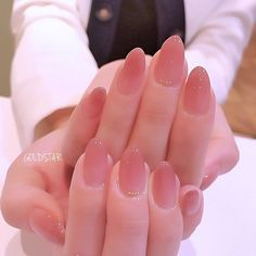 Make an original manicure for Valentine's Day - My Nails Soft Nails, Simple Nails, Pink Nails, My Nails, Cute Nails, Pretty Nails, Asian Nails, Korean Nail Art, Asian Nail Art