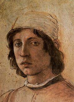 self-portrait, c.1485 // by  Filippino Lippi, Uffizi, Florence