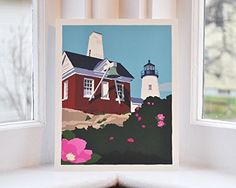 Pemaquid Point Light Bell, Maine Print (8x10 Giclee Poster, Wall Decor Art). Pemaquid Point Light Bell by Graphic Artist Alan Claude. Pemaquid Point Light is one of my favorite lights partly because it has remained unchanged for so many years. I frequently go to this place for solitude and to collect my thoughts. One can come and watch waves pound the granite shore, see a Fresnel lens up close and think about what daily life was like back then. After many visits and sketches throughout…