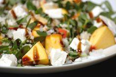 Cinco Quartos de Laranja: Salada de beldroegas com pêssego e queijo fresco e a importância de comer vegetais