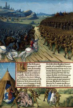 Passages d'outremer. Enluminures de Jean Colombe. 1472-1475. Bibliothèque nationale de France. Fr 5594