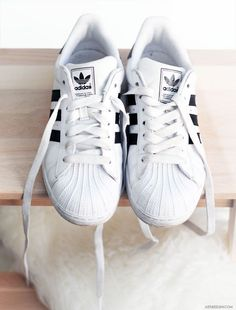♡shell toe original white w/black stripes OG RUN DMC sneakers. Adidas Missy Elliot sports Adidas,too!