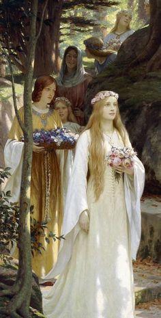 My Fair Lady Kunstdruck von Edmund Blair Leighton - My Fair Lady, Renaissance Paintings, Renaissance Art, Pre Raphaelite Paintings, Art Ancien, Classical Art, Medieval Art, Old Art, Aesthetic Art
