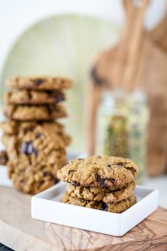 Kristy's Pistachio Butter Chocolate Chunk Cookies. Vegan Glutenfree Recipe