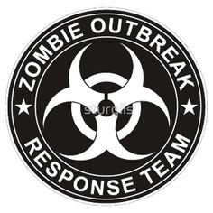 Walking Dead Zombie Response Team Logo Bio Hazard Shirts & Bumper Stickers #sonofadick #zombies #walkingdead