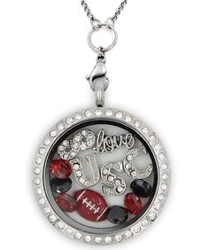 Perfect Locket for South Carolina #Football Fans! Not Sold in Stores!! - Material: Stainless Steel Locket and Chain - Locket Size: 30 mm - Chain Size 30 inch - **All Charms In Picture Included** #southcarolina #christmasgift