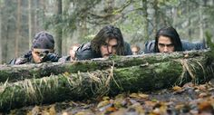 The Musketeers series After securing the prisoners Porthos, Athos and D'Artagnan reconnoitre the building Aramis is being held in. View Tv, Bbc Musketeers, Luke Pasqualino, Divided We Fall, The Garrison, Tom Burke, Brothers In Arms, Boy Face, Prisoners Of War