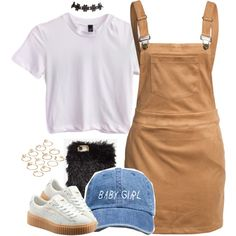 A fashion look from May 2016 featuring Glamorous dresses, Puma sneakers and ASOS rings. Browse and shop related looks.