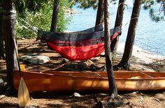 hammock camping - we've got the hammocks, now we need the canoe