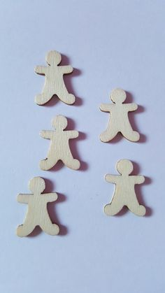 15 x Mini Blank Wooden Craft Shapes - 25mm - Christmas - Gingerbread Man