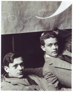 Tristan Tzara & René Crevel, 1928, by Man Ray.