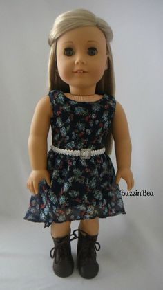 Blue Floral Chiffon Dress with High Low Style by BuzzinBea on Etsy