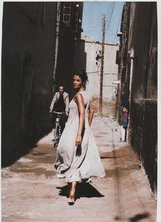 ☆ Helena Christensen   Photography by Pamela Hanson   For Vogue Magazine France   May 1994 ☆
