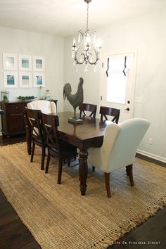 Dining Room painted in Benjamin Moore Healing Aloe. Full home tour with before and afters! - Life On Virginia Street