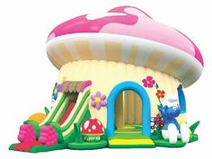 Giant Cheap Airblown Inflatable Mushroom Combo,Buy Outdoor & Indoor Adult Air Bouncy Inflatables UK For Sale Blow Up Water Slide, Water Slides, Little Girl Toys, Toys For Girls, Bouncy Castle For Sale, Backyard Water Parks, Balloon Logo, Bouncy House, Inflatable Bouncers