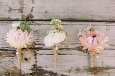 Boutonnières | Jenny Sun Photography | http://burnettsboards.com/2014/01/enchanted-garden-editorial/
