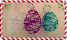 Christmas Craft - Woollen Baubles - {use a cone to make a christmas tree shape? Christmas Crafts For Kids To Make, Christmas Activities For Kids, Christmas Mom, Christmas Decorations To Make, Homemade Christmas, Holiday Crafts, Holiday Fun, Christmas Ideas, Days To Xmas