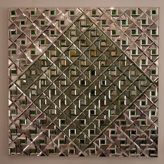 Monir Shahroudy Farmanfarmaian, Geometry of Hope, 1976. Reverse painted glass, mirrored glass, plaster, and wood, 128 x 128 cm. Private collection, London © March 13–June 3, 2015: Monir Shahroudy Farmanfarmaian: Infinite Possibility. Mirror Works and Drawings 1974–2014