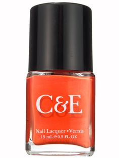C&E Nail Lacquer in Clementine, an orange nail polish free of DBP, formaldehyde, toluene, and camphor