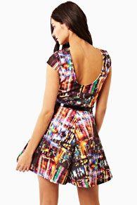 Print Galaxy Skater Dress