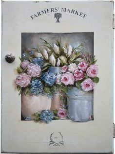 Original Gail McCormack painting Farmers Market