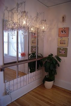 MARY KATE'S room decor idea  * ballerina mirrored wall