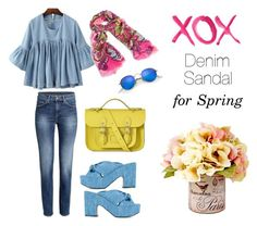 """""""Denim Sandal"""" by cmrno on Polyvore featuring Robert Clergerie, Vera Bradley, Ray-Ban, The Cambridge Satchel Company and GALA"""