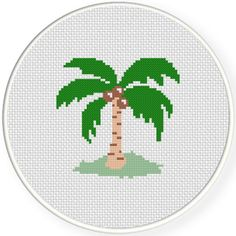 FREE Coconut Tree Cross Stitch Pattern