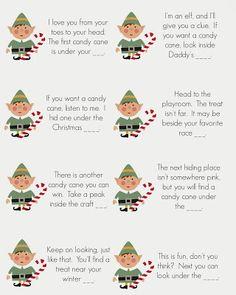 East Coast Mommy: Elf on the Shelf - Candy Cane Scavenger Hunt