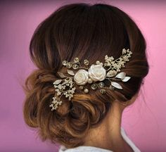 Wedding hair piece Wedding hair comb Pearl Hair Comb by MkeFlower
