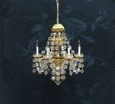 Dollhouse miniature chandelier