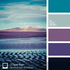 Teal and purple - color palette Scheme Color, Colour Pallette, Color Palate, Colour Schemes, Color Patterns, Paint Schemes, Paint Color Combinations, Combination Colors, Purple Color Palettes
