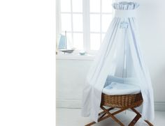 Buy Vintage Blue Moses Basket Drape & Stand from Silver Cross