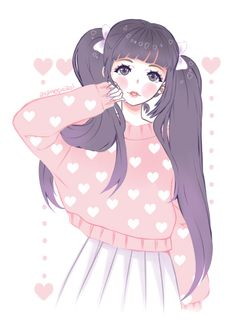 "ayameshiroi: "" Commission for lovely Naomilku she is so pretty and cute (。・//ε//・。) ~♥ """