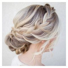Braided updo ❤ liked on Polyvore featuring accessories, hair accessories and hair