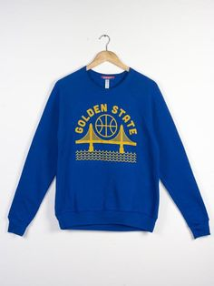 Golden State Unisex Crewneck Sweatshirt Blue