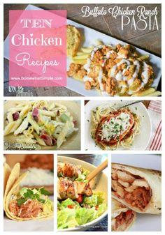 Ten Chicken Recipes