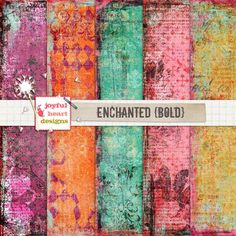 Enchanted {bold} by Joyful Heart Designs on @creativemarket Perfect for digital and hybrid art journaling. Perfect for branding, websites, digital media, packaging design, greetings, invites, apparel, merchandise designs, scrapbooking, home decor (pillows, towels, napkins) and so much more. **Affiliate Link**
