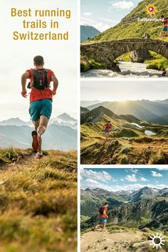 Into running? Come check these running trails in Switzerland Switzerland Tourism, Trail Running, Playground, Countryside, Boat, Adventure, Landscape, Canoeing, Summer