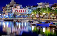 Summer's night in Sitia, Crete, Greece Mykonos, Santorini, Greece Tours, Greece Travel, Oh The Places You'll Go, Cool Places To Visit, Malta, Creta Greece, Places Worth Visiting