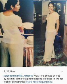 Wow rare photos shared by Yasmin, in the first photo it looks like shes in line for food or something :) Selena Quintanilla Perez, Selena And Chris, Selena Selena, Selena Pictures, Selena Pics, Fashion Designer, Doja Cat, Her Music, Celebs